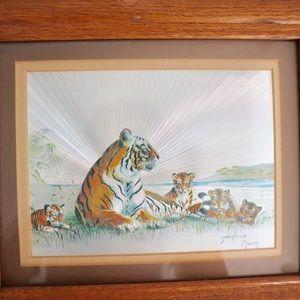 Vintage Josephine Marsh foil print- tigers